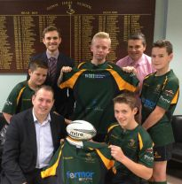 New Shirt Presentation to Down High Rugby Players